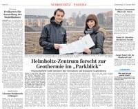 Leipziger Volkszeitung berichtet über Studie des UFZ zur Geothermie in Neubaugebiet