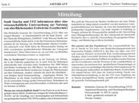 Tauchaer Stadtanzeiger berichtet über öffentliche Informationsveranstaltung des UFZ zu Geothermiestudie in Neubaugebiet