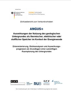 Deckblatt des ANGUS+ Schlussberichts